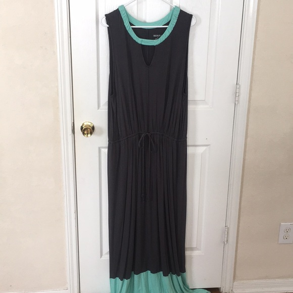 Merona plus size mint and grey maxi dress